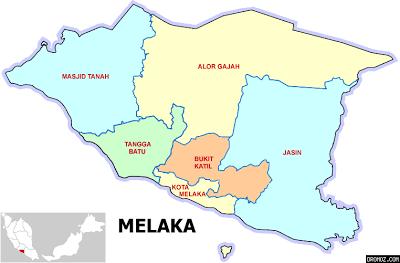 Peta negeri melaka