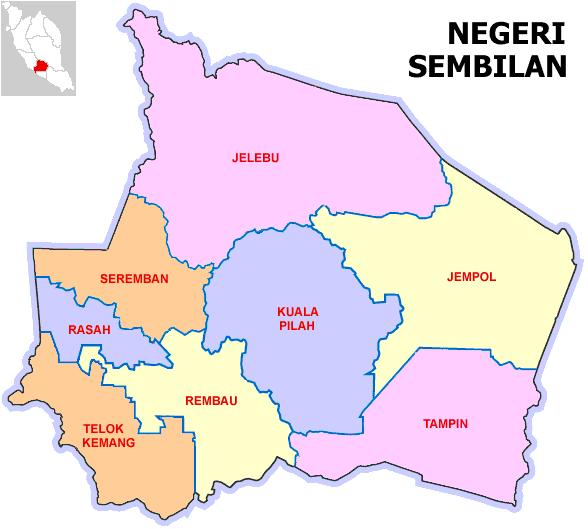 peta Negeri Sembilan yang jelas setiap daerah