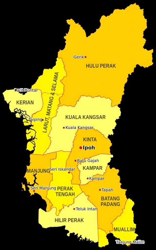peta daerah di perak