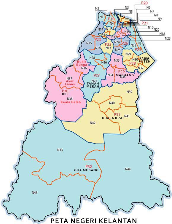 peta negeri kelantan