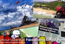 luncur udara di paragliding kota putera park