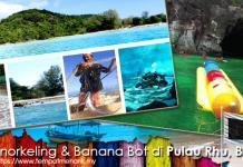 Snorkeling dan Menaiki Banana Bot di Pulau Rhu Pantai Bukit Kluang Besut Terengganu