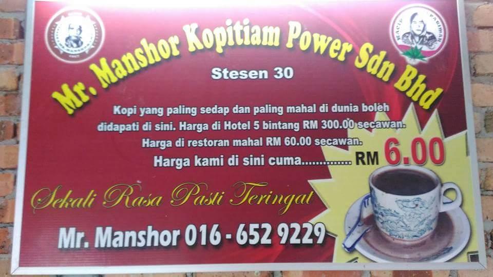 Mr Manshor Kopitiam Power