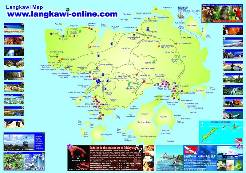 Peta lokasi pulau langkawi
