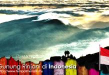 Gunung Rinjani di Indonesia