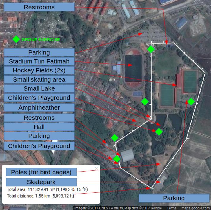 peta Taman Rekreasi Bukit Serindit Tempat Menarik di Melaka