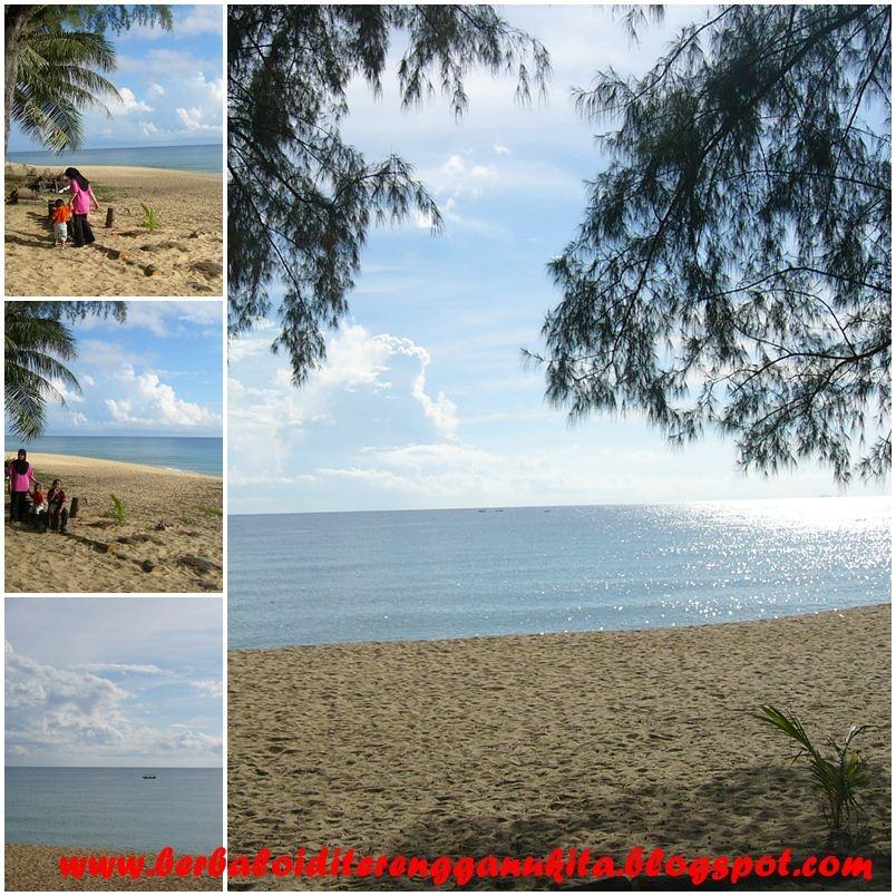pemandangan yang indah di tepi pantai rantau abang