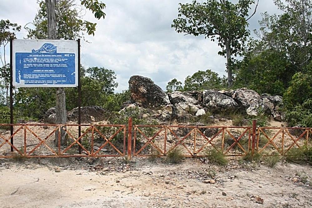 batu penyu di pantai rantau abang antara aset pelancongan terengganu