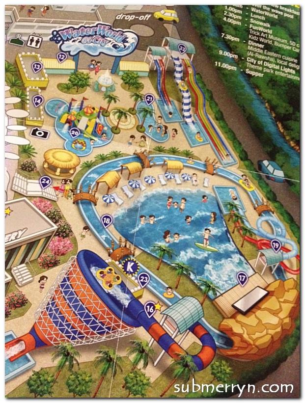 water-world-map Of Waterworld I-city Di Selangor Lokasi Mandi Manda Yang Sangat Nyaman Untuk Mandi-manda
