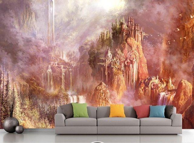 menyesuaikan 3d wallpaper dinding artistik pemandangan 3d foto kertas dinding dekorasi rumah ruang tamu 3d mural