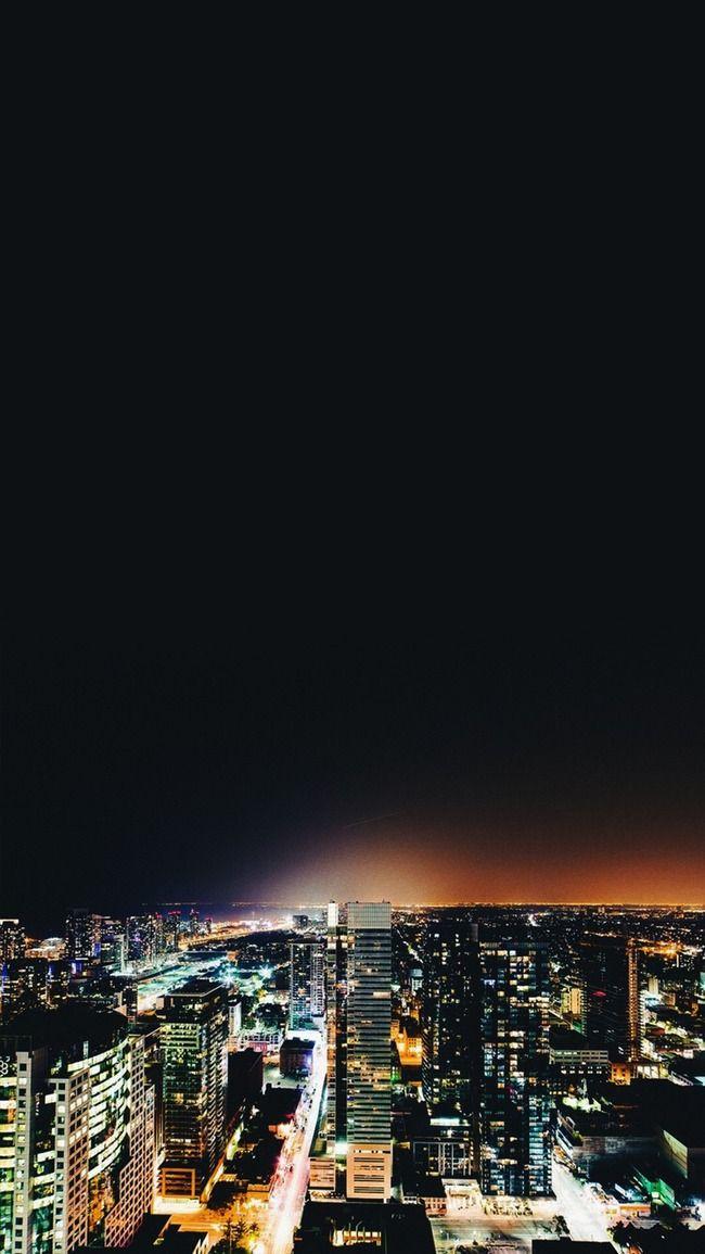 bandar melihat h5 latar belakang kota pemandangan yang indah malam imej latar belakang