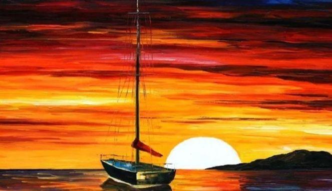 Pemandangan Pada Waktu Senja Di Laut Yang Memukau Dan Perlu Kita