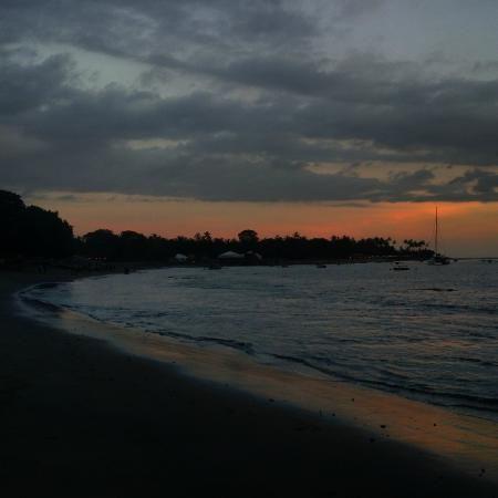 sheraton senggigi beach resort pemandangan senja