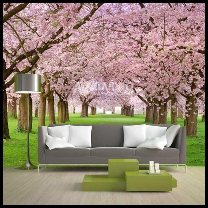 grab oke wallpaper dinding custom gambar pemandangan alam 3d alam 1