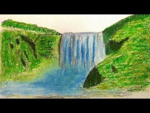 gambar pemandangan mewarna terhebat cara d gambar pemandangan air terjun gunung youtube