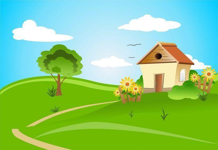 gambar pemandangan kartun