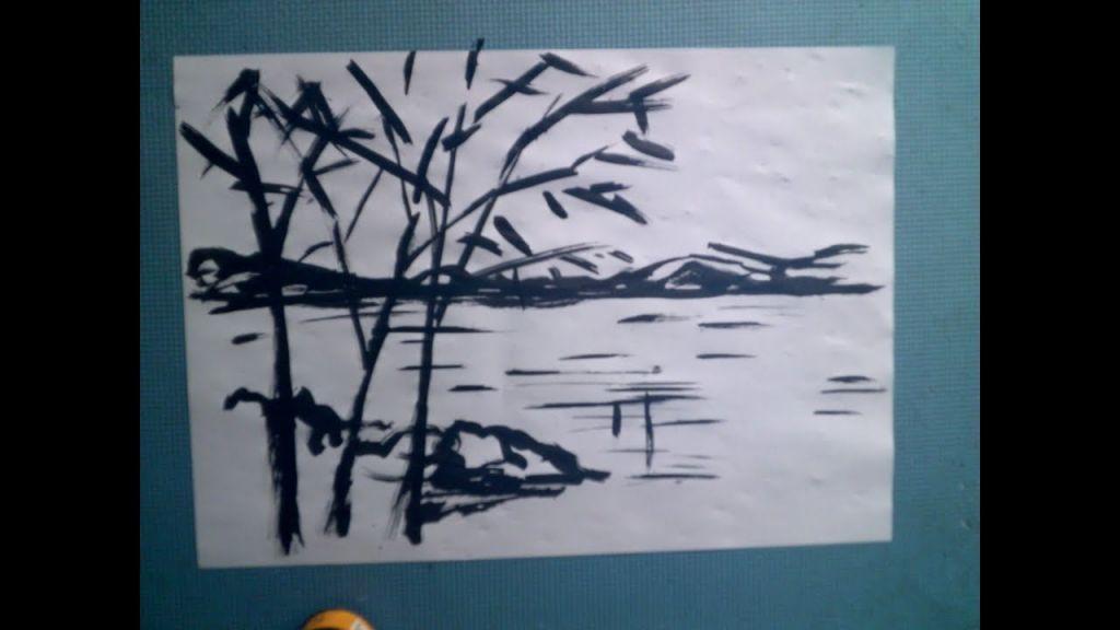 lukisan pemandangan untuk mewarna baik gambar lukisan pemandangan alam contoh gambar pemandangan 2 dimensi