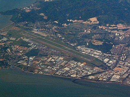 bird s eye view of the penang international airport