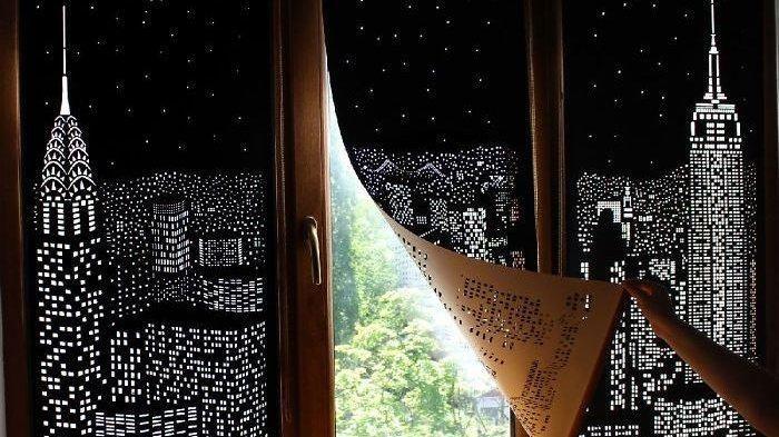 gorden hitam bikin pemandangan rumah anda lebih menarik